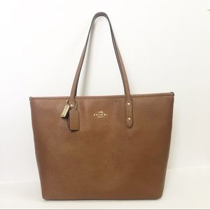 Authentic COACH City Tote in Saddle